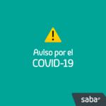 Aviso Saba por COVID-19